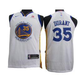 Camiseta Kevin Durant #35 Golden State Warriors Blanco Niño