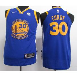 Camiseta Stephen Curry #30 Golden State Warriors Azul Niño