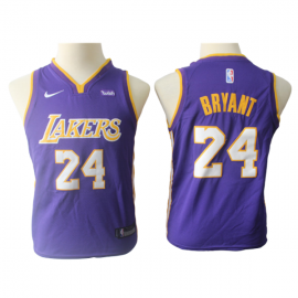 Camiseta Kobe Bryant #24 Los Angeles Lakers Purpura Niño