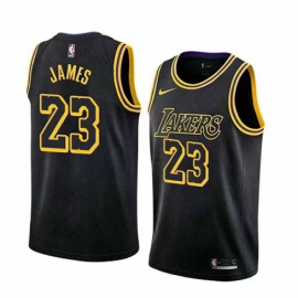 Camiseta LeBron James #23 Los Angeles Lakers 2019 Negro City Edition Niño