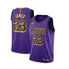 Camiseta LeBron James #23 Los Angeles Lakers 2019 Purpura City Edition Niño