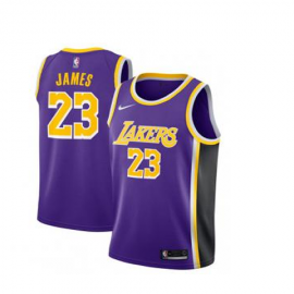 Camiseta LeBron James #23 Los Angeles Lakers 2019 Purpura Statement Edition Niño