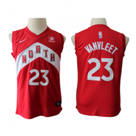 Camiseta Fred VanVleet #23 Toronto Raptors 17/18 Rojo Earned Edition Niño