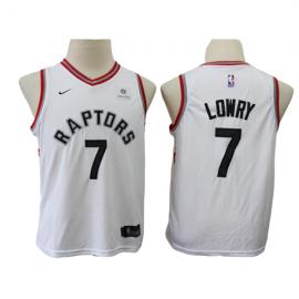 Camiseta Kyle Lowry #7 Toronto Raptors 17/18 Blanco Niño