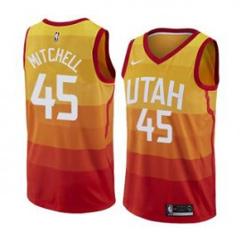 Camiseta Donovan Mitchell #45 Utah Jazz 17/18 Amarillo City Edition Niño
