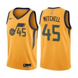 Camiseta Donovan Mitchell #45 Utah Jazz 17/18 Amarillo Statement Edition Niño