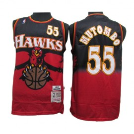 Camiseta Dikembe Mutombo #55 Atlanta Hawks 2019/20 Rojo Classic Edition