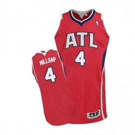 Camiseta Paul Millsap #4 Atlanta Hawks Rojo