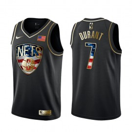 Camiseta Kevin Durant #7 Brooklyn Nets Independence Day Gold Edition