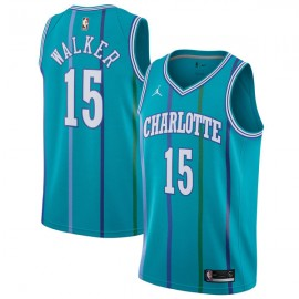 Camiseta Kemba Walker #15 Charlotte Hornets Azul con Rayas