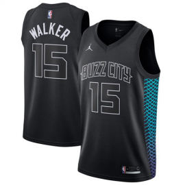 Camiseta Kemba Walker #15 Charlotte Hornets Negro City Edition