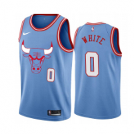 Camiseta Coby White #0 Chicago Bulls 2019/20 Azul City Edition