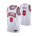 Camiseta Coby White #0 Chicago Bulls Blanco Association Edition