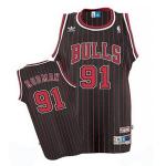 Camiseta Dennis Rodman #91 Chicago Bulls Negro