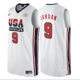 Camiseta Michael Jordan #9 USA Dream Team Blanco