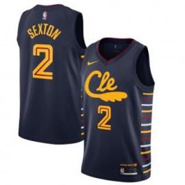Camiseta Collin Sexton #2 Cleveland Cavaliers 2019/20 Azul City Edition