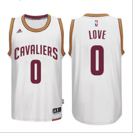 Camiseta Kevin Love #0 Cleveland Cavaliers Blanco