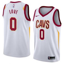 Camiseta Kevin Love #0 Cleveland Cavaliers Blanco Association Edition