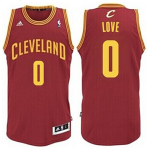 Camiseta Kevin Love #0 Cleveland Cavaliers Rojo