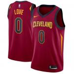 Camiseta Kevin Love #0 Cleveland Cavaliers Rojo Icon Edition