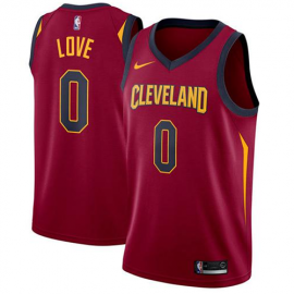 Camiseta Kevin Love #0 Cleveland Cavaliers Rojo Icon Edition