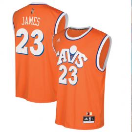 Camiseta LeBron James #23 Cleveland Cavaliers Naranja