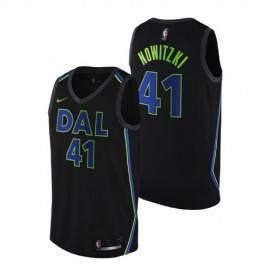 Camiseta Dirk Nowitzki #41 Dallas Mavericks Negro City Edition