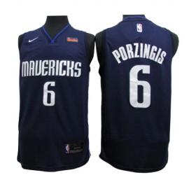 Camiseta Kristaps Porziņģis #6 Dallas Mavericks 2020 Azul Oscuro