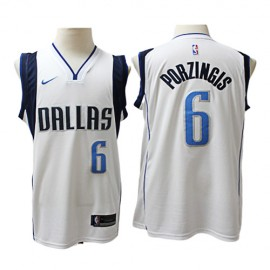 Camiseta Kristaps Porziņģis #6 Dallas Mavericks Blanco