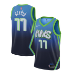 Camiseta Luka Doncic #77 Dallas Mavericks 2019/20 Azul City Edition