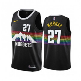 Camiseta Jamal Murray #27 Denver Nuggets 2019/20 Negro City Edition