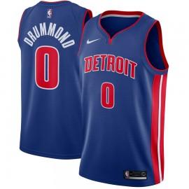 Camiseta Andre Drummond #0 Detroit Pistons Azul