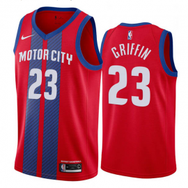 Camiseta Blake Griffin #23 Detroit Pistons Rojo City Edition