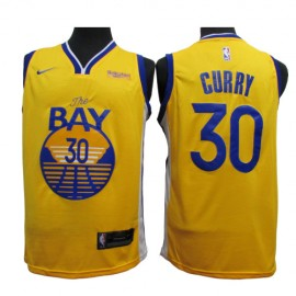 Camiseta Stephen Curry #30 Golden State Warriors 2020 Amarillo Statement