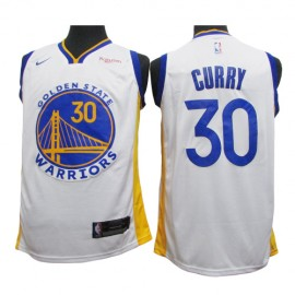 Camiseta Stephen Curry #30 Golden State Warriors 2020 Blanco