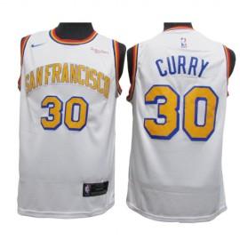Camiseta Stephen Curry #30 Golden State Warriors Blanco Retro