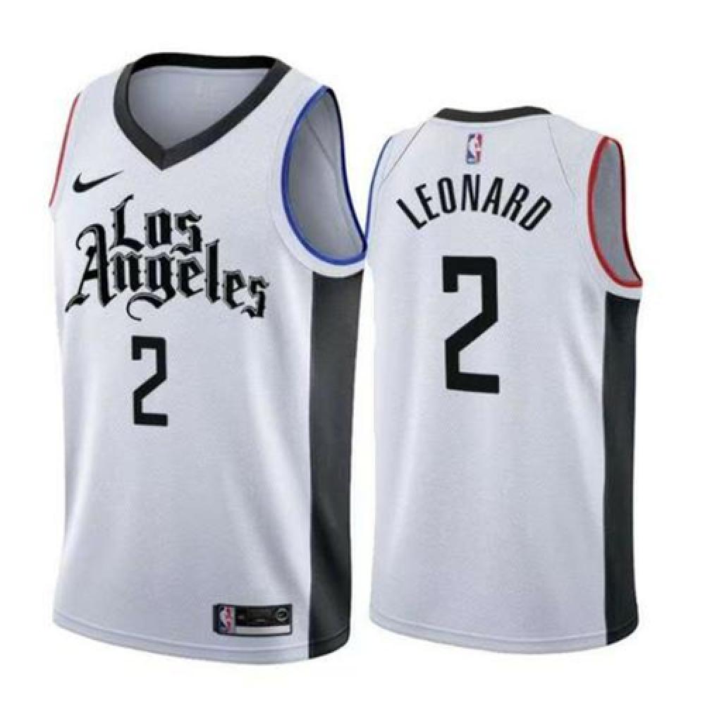 Camiseta Kawhi Leonard #2 Los Angeles Clippers 2019/20 Blanco City Edition