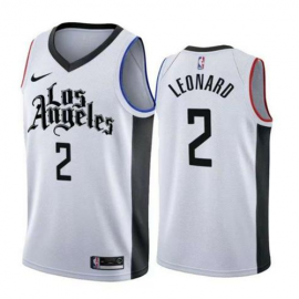 Camiseta Kawhi Leonard #2 Los Angeles Clippers 2019/20 Blanco City Edition