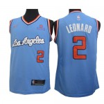 Camiseta Kawhi Leonard #2 Los Angeles Clippers Azul Latin Edition