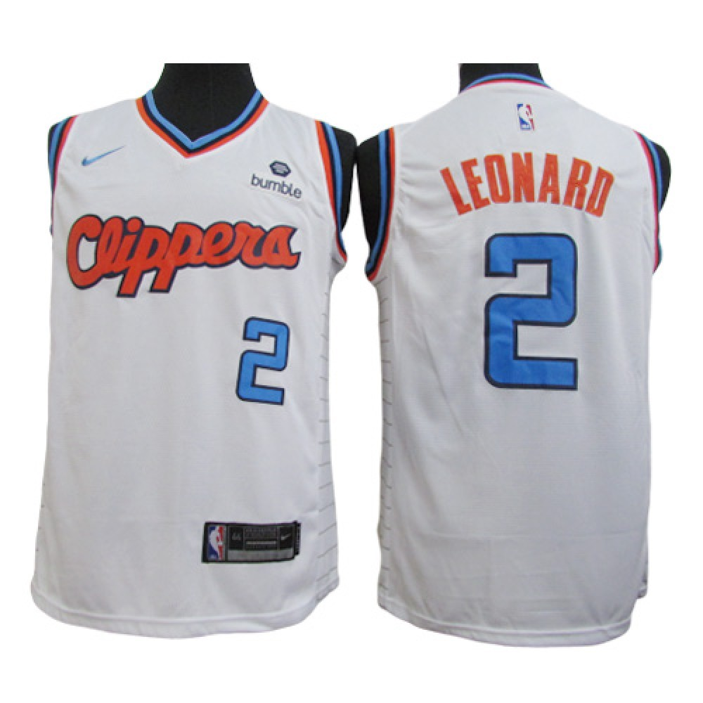 Camiseta Kawhi Leonard #2 Los Angeles Clippers Blanco City Edition