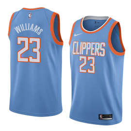 Camiseta Lou Williams #23 Los Angeles Clippers Azul City Edition