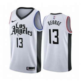 Camiseta Paul George #13 Los Angeles Clippers 2019/20 Blanco City Edition