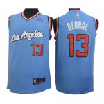 Camiseta Paul George #13 Los Angeles Clippers Azul Latin Edition