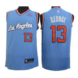 Camiseta Paul George #13 Los Angeles Clippers Azul Latin Edition