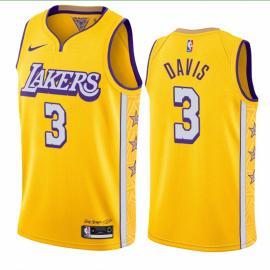 Camiseta Anthony Davis #3 Los Angeles Lakers 2019/20 Amarillo City Edition
