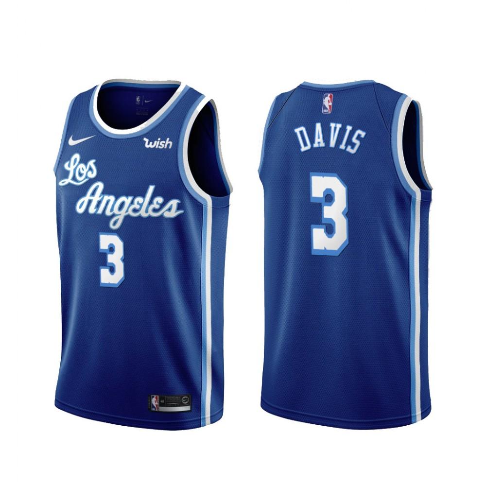 Camiseta Anthony Davis #3 Los Angeles Lakers Azul Latin Edition