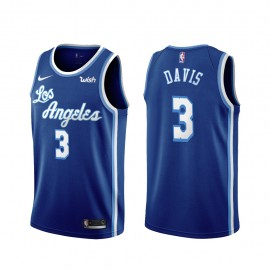Camiseta Anthony Davis #3 Los Angeles Lakers Azul Latin Edition
