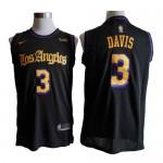 Camiseta Anthony Davis #3 Los Angeles Lakers Negro Latin Edition