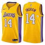 Camiseta Brandon Ingram #14 Los Angeles Lakers Amarillo Icon Edition