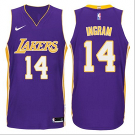 Camiseta Brandon Ingram #14 Los Angeles Lakers Púrpura Statement Edition